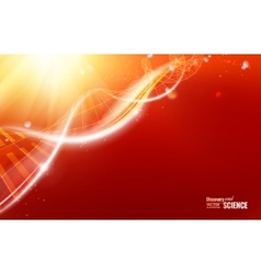Abstract dna design vector image