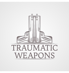Abstract of traumatic weapons vector image