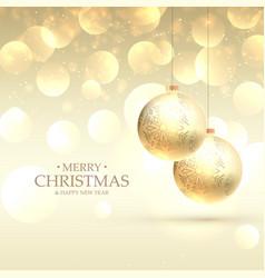 beautiful elegant merry christmas greeting card vector image