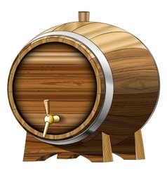Beer barrel vector image