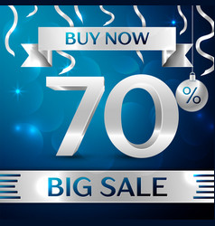 Big sale buy now seventy percent for discount vector