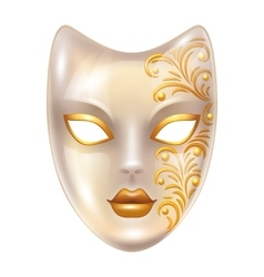 Carnival venetian masks decorated with golden vector