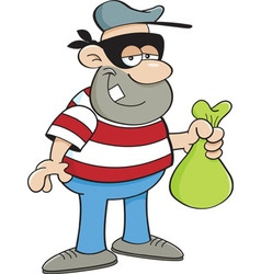 Cartoon thief vector image