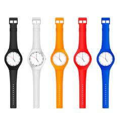 color wristwatch vector image