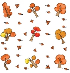 Doodle of orange tree collection stock vector