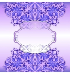 Elegant frame with ethnic ornament vector image vector image