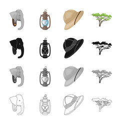 elephant animal wild and other web icon in vector image vector image