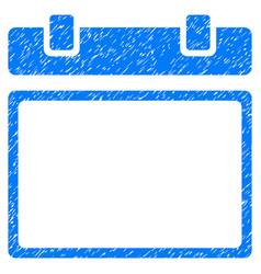 Empty calendar page grunge icon vector