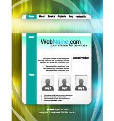 futuristic website template vector image vector image