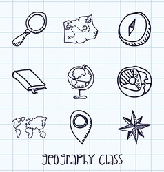 Geography class vector