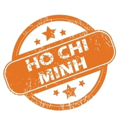 Ho chi minh round stamp vector