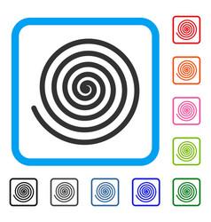 Hypnosis framed icon vector