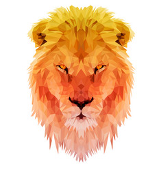 lion polygon triangulate vector image