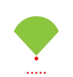Location or radar it is icon vector