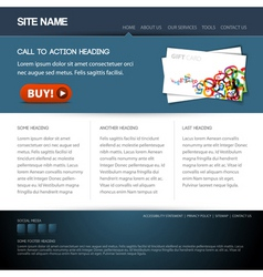 modern website template vector image vector image