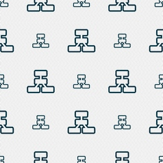 Network icon sign Seamless pattern with geometric vector image vector image