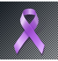 Periwinkle ribbon eating disorder awareness vector