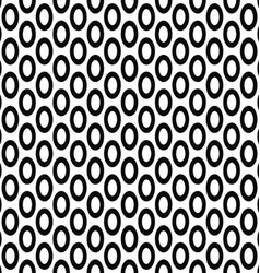 Seamless monochrome ellipse pattern background vector
