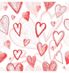 Seamless pattern on Valentines Day with hearts vector image
