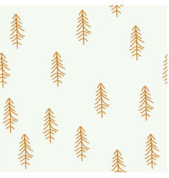 seamless pattern with christmas tree vector image vector image