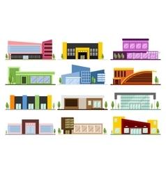 Set of shops buildings vector