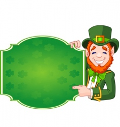 St Patrick's day lucky leprechaun vector image vector image