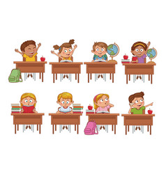 students kids cartoon vector image
