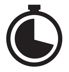 watch line icon vector image vector image