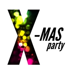 X-mas party vector image
