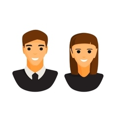 Man and woman silhouette icon vector