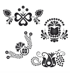 Traditional folk ornaments vector image
