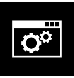 The website optimization icon www and browser vector