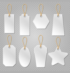 White blank price tags labels template vector