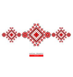 national ornament background vector image