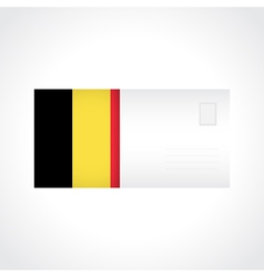 Envelope with belgian flag card vector
