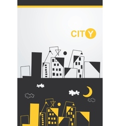 Painted cityscape vector