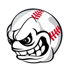 Baseball cartoon ball vector