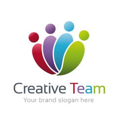Creative Team Logo Template vector image