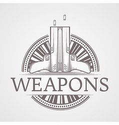 Abstract of traumatic weapons vector