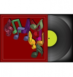 vinyl cover vector image