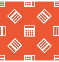Orange calculator pattern vector