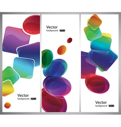 modern style shapes vector image