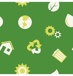 Seamless background with eco icons vector