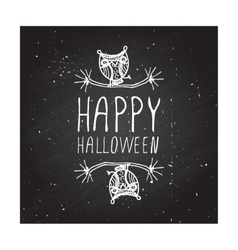 Happy halloween on chalkboard background vector