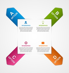 Abstract infographic with colorful arrows vector