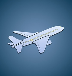 Icon passenger aircraft vector