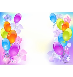 Background with balloons vector