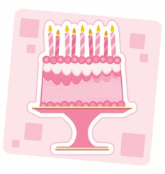 Birthday cake illustration vector
