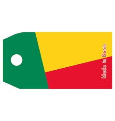 Benin flag on price tag vector