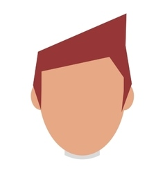 Head of man brown hair vector